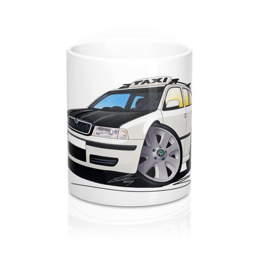 Skoda Octavia 1 Estate Taxi - Caricature Car Art Coffee Mug