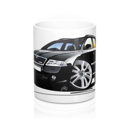 Skoda Octavia 2 vRS Estate - Caricature Car Art Coffee Mug