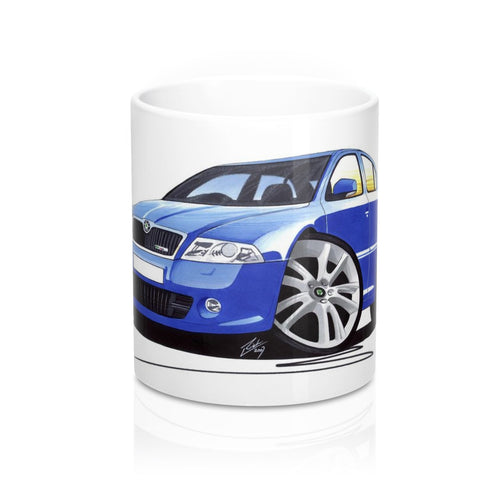 Skoda Octavia 2 vRS - Caricature Car Art Coffee Mug
