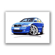 Load image into Gallery viewer, Skoda Octavia 2 vRS - Caricature Car Art Print