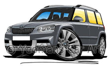 Load image into Gallery viewer, Skoda Yeti (Facelift) Outdoor - Caricature Car Art Coffee Mug