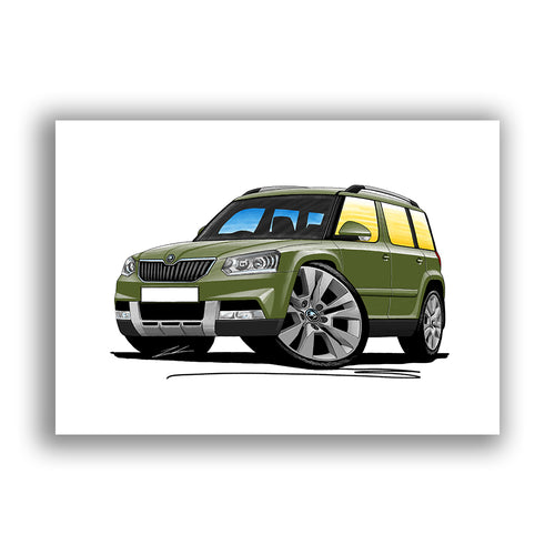 Skoda Yeti (Facelift) Outdoor - Caricature Car Art Print