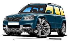 Load image into Gallery viewer, Skoda Yeti (Facelift) Outdoor - Caricature Car Art Print