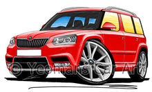 Load image into Gallery viewer, Skoda Yeti (Facelift) - Caricature Car Art Print