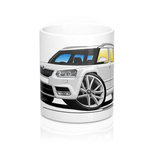 Skoda Yeti (Facelift) - Caricature Car Art Coffee Mug
