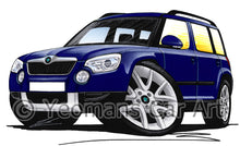 Load image into Gallery viewer, Skoda Yeti - Caricature Car Art Print