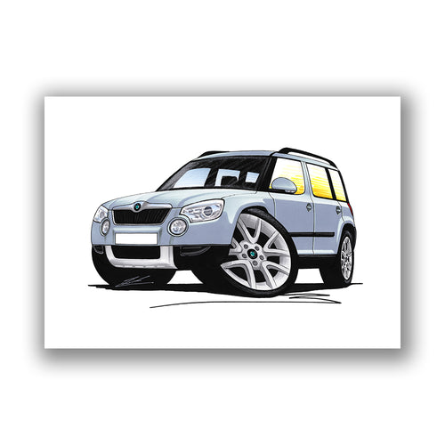 Skoda Yeti - Caricature Car Art Print
