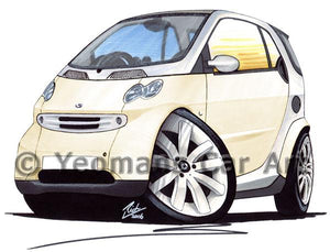 Smart Fortwo (Mk1) - Caricature Car Art Coffee Mug