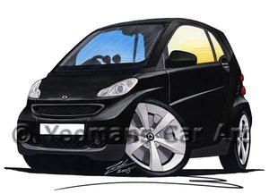 Smart Fortwo (Mk2) (Black Tridion) - Caricature Car Art Coffee Mug