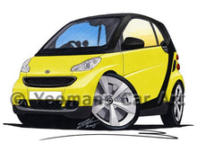 Load image into Gallery viewer, Smart Fortwo (Mk2) (Black Tridion) - Caricature Car Art Coffee Mug