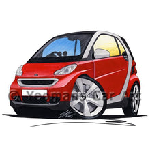 Load image into Gallery viewer, Smart Fortwo (Mk2) (Silver Tridion) - Caricature Car Art Coffee Mug