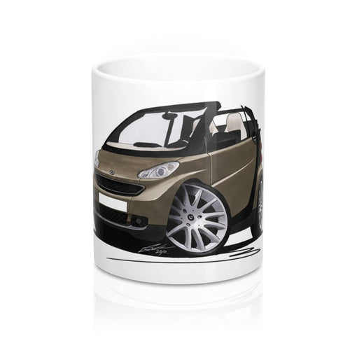 Smart Fortwo (Mk2) Cabriolet (Black Tridion) - Caricature Car Art Coffee Mug