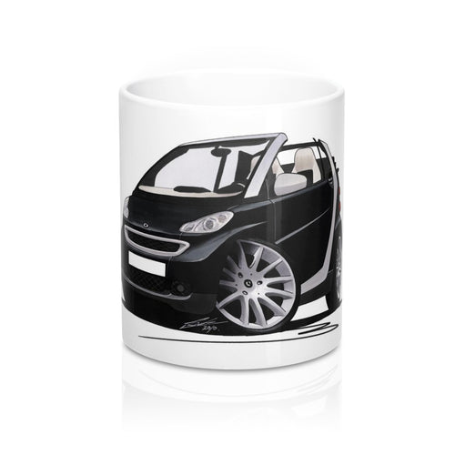 Smart Fortwo (Mk2) Cabriolet (Silver Tridion) - Caricature Car Art Coffee Mug