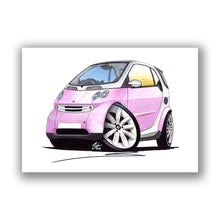 Load image into Gallery viewer, Smart Fortwo (Mk1) - Caricature Car Art Print