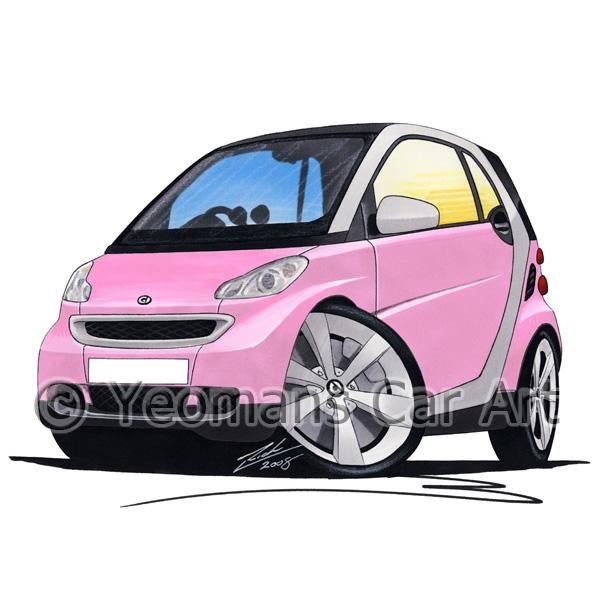 Smart Fortwo (Mk2) (Silver Tridion) - Caricature Car Art Coffee Mug