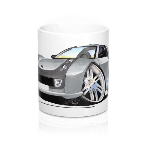 Smart Roadster-Coupe Brabus (Silver Tridion) - Caricature Car Art Coffee Mug