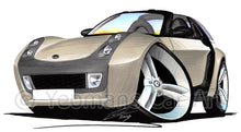 Load image into Gallery viewer, Smart Roadster-Coupe (Black Tridion) - Caricature Car Art Print