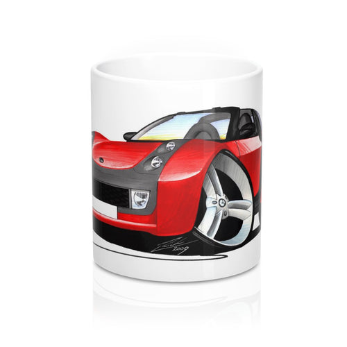 Smart Roadster-Coupe (Black Tridion) - Caricature Car Art Coffee Mug