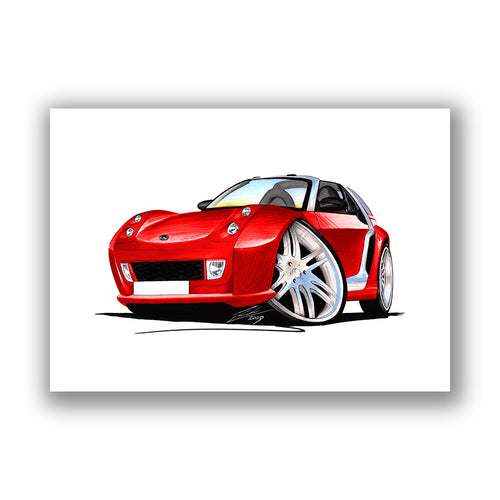Smart Roadster-Coupe Brabus RCR Racing Edition - Caricature Car Art Print