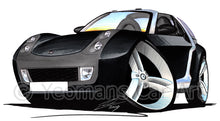 Load image into Gallery viewer, Smart Roadster-Coupe (Silver Tridion) - Caricature Car Art Print