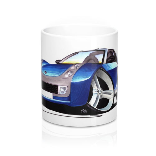 Smart Roadster (Silver Tridion) - Caricature Car Art Coffee Mug