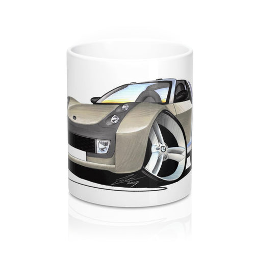 Smart Roadster-Coupe (Silver Tridion) - Caricature Car Art Coffee Mug