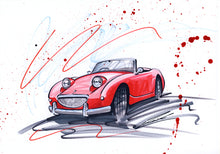 Load image into Gallery viewer, 'Sprite' - Original Classic Car Drawing