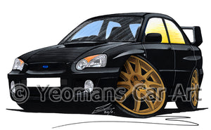 Subaru Impreza (2003-2006) (Blob-Eye) - Caricature Car Art Print