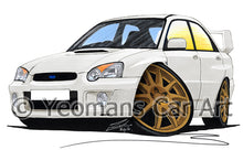 Load image into Gallery viewer, Subaru Impreza (2003-2006) (Blob-Eye) - Caricature Car Art Print