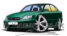 Load image into Gallery viewer, Subaru Legacy (Mk4) - Caricature Car Art Print