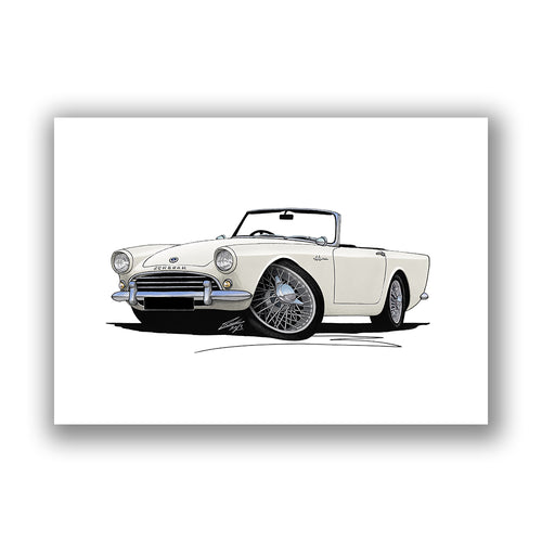 Sunbeam Alpine - Caricature Car Art Print