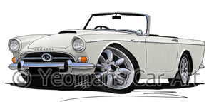 Sunbeam Tiger - Caricature Car Art Print