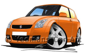 Suzuki Swift (ZC11S) - Caricature Car Art Coffee Mug
