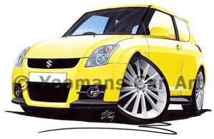 Suzuki Swift Sport (ZC31S) - Caricature Car Art Coffee Mug