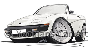 Triumph TR7 DHC Convertible - Caricature Car Art Coffee Mug