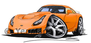 TVR Sagaris - Caricature Car Art Print