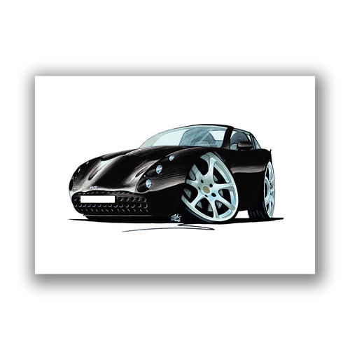 TVR Tuscan S - Caricature Car Art Print