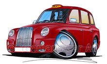 Load image into Gallery viewer, London TX4 Taxi (Chrome) - Caricature Car Art Print