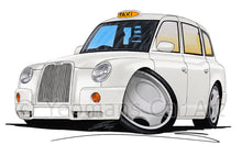 Load image into Gallery viewer, London TX4 Taxi - Caricature Car Art Print