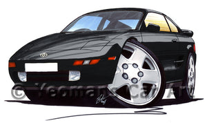 Toyota MR2 (Mk2) - Caricature Car Art Print