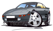 Load image into Gallery viewer, Toyota MR2 (Mk2) - Caricature Car Art Print