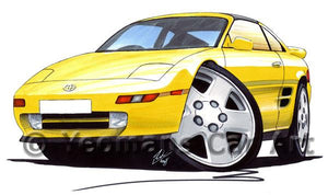 Toyota MR2 (Mk2) - Caricature Car Art Coffee Mug