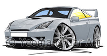 Load image into Gallery viewer, Toyota Celica (Mk7)(Facelift) GT - Caricature Car Art Print