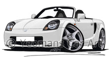 Load image into Gallery viewer, Toyota MR2 (Mk3) - Caricature Car Art Print