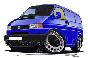 VW T4 Transporter Van (Grey Bumper) - Caricature Car Art Coffee Mug