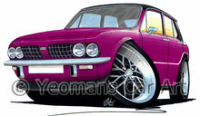 Load image into Gallery viewer, Triumph Dolomite Sprint - Caricature Car Art Print