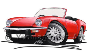 Triumph Spitfire (Mk4) - Caricature Car Art Coffee Mug