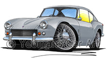 Load image into Gallery viewer, Triumph GT6 (Mk1) - Caricature Car Art Print