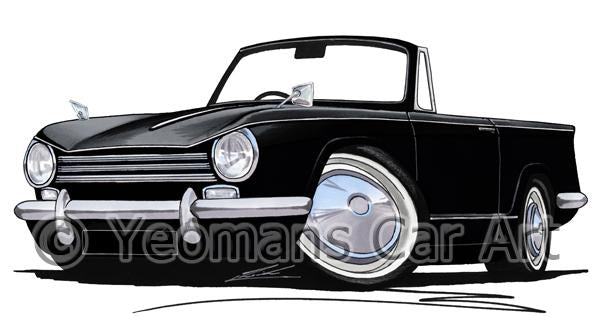 Triumph Herald 13/60 - Caricature Car Art Coffee Mug