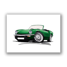 Load image into Gallery viewer, Triumph Spitfire (Mk4) - Caricature Car Art Print